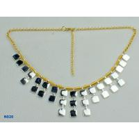 China 2012 Fashion Women's Tin Alloy Electroplated Jewelry Mixed Metal Necklace for Gift OEM wholesale