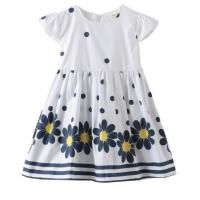 China Summer Infant Baby Girl Dresses / Newborn Girl Dresses With Waistband And Prints wholesale