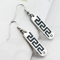 China Fashionable Drop Earrings with Blue Zircon wholesale