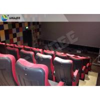 China Red 4D Movie Theater Simulator System Equipment With Motion Chair 3 / 4 / 5 Seats A Platform wholesale