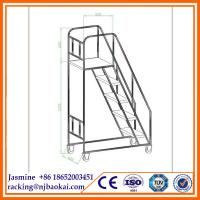 China 2015 High Quality 8 Steps 1.02m Steel Warehouse Rolling Ladder wholesale