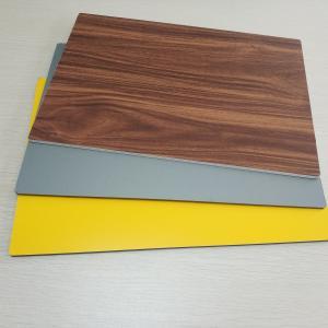 China Circular Cladding Wood Grain Aluminum Composite Panel Embossed Surface Density 2.5% wholesale