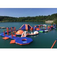 China 3 Layers Leak - Proof Inflatable Water Park Equipment With Slide Game wholesale