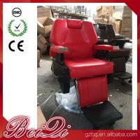 China Big Pump Red BarberChairs Used Hair Styling Chairs Luxury Barber Shop Furniture wholesale