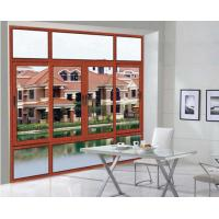 China Commercial Double Glazed Aluminium Casement Windows Electrophoresis Surface With Mesh wholesale