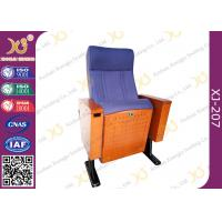 China Wood Box Armrest Conference Hall Chairs With Foldable PU Foam Seat wholesale