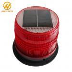 China Magnetic Bottom Red Traffic Warning Lights , LED Solar Emergency Warning Light wholesale