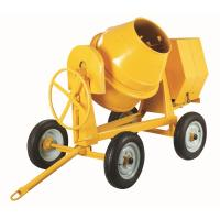 China Electric Motor 4 Wheels Portable Concrete Mixers For Cement , Sand , Mortar wholesale