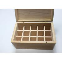 China Pine Wood Handmade Wooden Boxes Nature Color Hinged Lid For Essential Oil wholesale