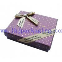 Buy cheap paper box with foil stamping logo and ribbon from wholesalers