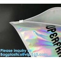 China Metallized mailer pac Hologram Shiny Foil Glamour Holographic Mailers Metallic Mailer Apparel garment clothes Packaging wholesale