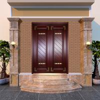 Quality factory directly sale villa front entrance double wooden doors for sale