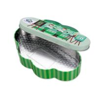 0.23mm Thickness Candy Tin Container,CYMK Printed Box With Plastic Insert
