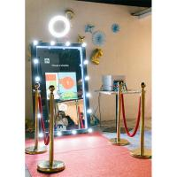 China 55 65 Automatic touch screen selfie cheap magic mirror photo booth wholesale