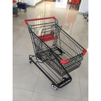 China 125 L Supermarket Shopping Trolley With 4 Swivel Flat Casters , 941 X 562 X 1001mm wholesale
