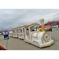 China Commercial Square Ride On Trains For Adults Four - Wheel Steering System wholesale