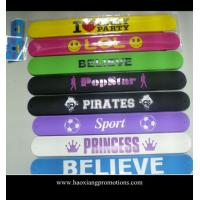 China Custom multicolor silicon crazy slap bands /slap bracelets/slap wristband wholesale