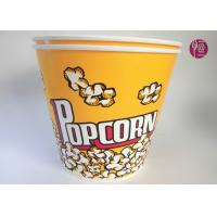 China 180oz Volume 4850ml Disposable Flexo Print Paper Popcorn Bucket With Paper Lid wholesale