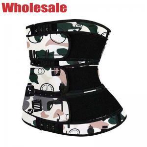China Neoprene Waist Trainer 3 Belt Zip And Velcro Waist Trainer For Better Posture wholesale