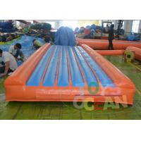 China Red Portable Gymnastics Air Track Customized Security  For Children wholesale