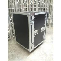Quality 12U Rack Flight Case / 9mm Thickness Plywood Black Amp Flight Case for sale