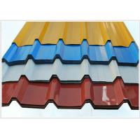 China Pvc Coated Steel Corrugated Sheet Metal For Roofing , 914-1250mm Width wholesale