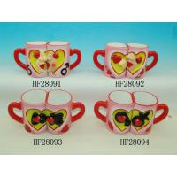 China Household Cool Funny Couples Coffee Mug Sets , Love Mugs Couple Heart Mugs wholesale