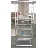 China Portable Retail display units Metal Display Racks with wire shelving for showing products wholesale