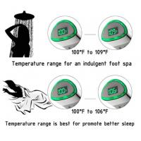 Quality JK-2006 LED Thermometer Handheld Shower Heads Water Powered Light to Display for sale