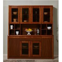 China Mothproof Solid Wood Kitchen Cabinets Dark Walnut Color With Baked - Painted 8 Doors wholesale