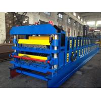 China 18 Forming Stations Double Layer Roof Tile Roll Forming Machine For Metal Roof Wall Panels Export Russia wholesale
