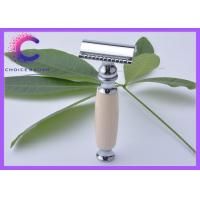 China New Double Edge Safety Razor Ivory Handle De Safety Razor Without Blades wholesale