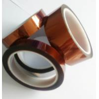 China Amber Color Kapton Polyimide Tape Class H Insulation Feature For Electrical Coils wholesale