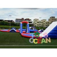 China Large Inflatable Water Park Playground , Inflatable Air Aqua Racing Floating Sport wholesale