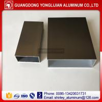 Buy cheap Aluminum square tube anodized bronze,aluminum rectangular section China top from wholesalers