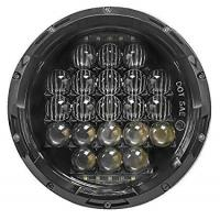 China 7 Inch 5D 105 W White LED Round Shaped Headlight Jeep LED Daytime Running Lights wholesale