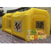 China Yellow Oxford PVC Portable Inflatable Tents Car Repair Painting Use wholesale