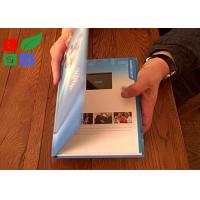 China Rechargable LCD Video Greeting Card 128M Memory Motion Sensor Video Promotion Book wholesale