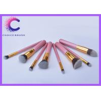 Quality Cute high end Soft pink makeup brush sets , makeup tools set for sale