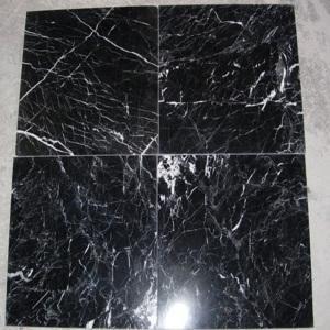 China Black Marguina Marble Tile (LY-321) wholesale