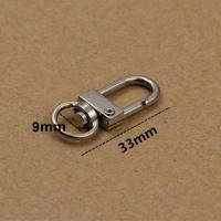China Metal Silver Snap Key Ring Swivel Lobster Claw D Clasp Hooks Clips dog buckle For Bag Keychain rings Making DIY Accessor wholesale