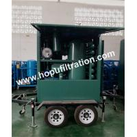 China outdoor usage two stage vacuum transformer oil purifier equipped with trailer,insulated oil treatment with weather proof wholesale