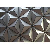China 3D Aluminum External Wall Cladding PVDF Coated with Silver Grey wholesale
