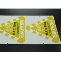 China Full Colour Printed Customized Sticker Labels Triangle Shape wholesale