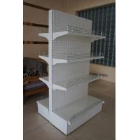 China Double Sided Supermarket Display Racks System , Metal Store Shelving wholesale
