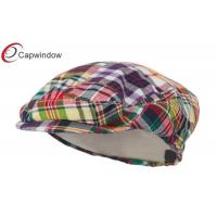 China Multi Patchwork Plaid Portland Madras Plaid Cotton Baseball Caps / Ivy Cap wholesale