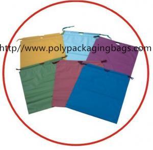 China White Plastic Shopping Bag White Drawstring Backpack Eco Friendly on sale
