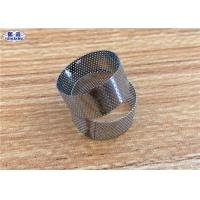 304 316 Perforated Filter Tube , Round Hole Stainless Steel Screen Tube