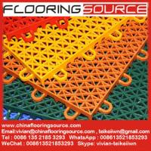 China Plastic Interlocking Sports Flooring outdoor & indoor basketball court sports flooring wholesale
