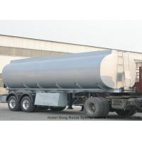 China 2 Axles Stainless Stee Water Tank Semi Trailer For Health Water Transport  30T- 35Ton wholesale